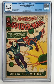 Marvel Comics -The Amazing Spider-Man #36 - CGC Graded 4.5 -  1x sc - (1966)