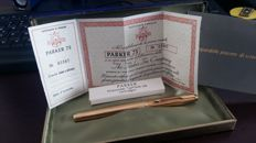 Parker 75 fountain pen Gold plated 1980s