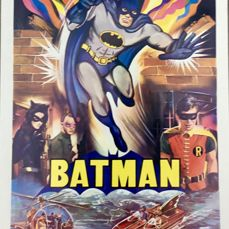 Batman (1966) - Adam West  - Poster, Original Belgian Cinema re-release 1970