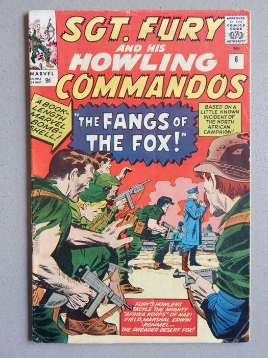 Marvel Comics - SGT. Fury and his Howling Commandos #6 - 1x sc - (1964)