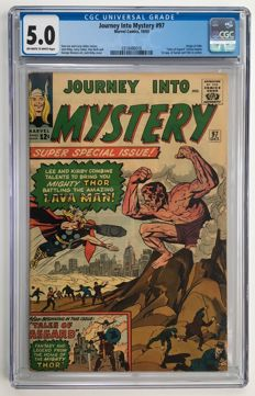 Marvel Comics - Journey Into Mystery / Thor #97 - CGC 5.0 graded - 1x sc - (1963)