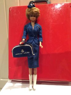 Barbie Bubblecut - with box and some clothes, among other things, largely American Airlines - America