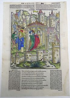 Gruninger Master; Virgil - Messanger arrives to warm Latins of the Invading Trojan Army  - 1529