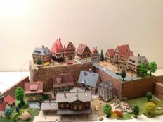 Kibri/Vollmer N - Timber-frame town with accessories