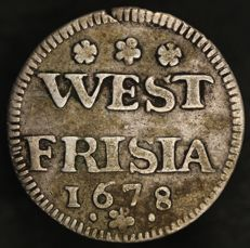 West-Friesland - Double nickel 1678 Enkhuizen - silver