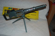 "Daishin, Japan - Length 52 cm - ""M-3 Heavy Machine Gun"" battery-operated tin toy, 1960s"