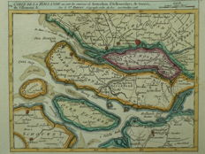 Islands of Zuid-Holland; G. Robert de Vaugondy - Carte de la Hollande ou sont les environs de Rotterdam (...) - ca. 1750