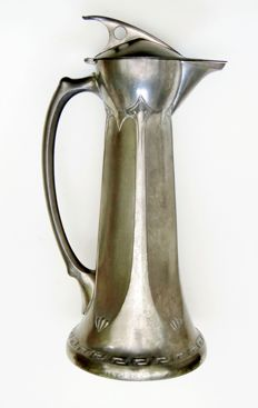 Albin Müller (1871-1941) - Jugendstil wine jug made of tin - Darmstadt art colony
