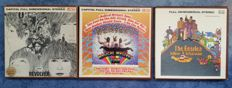 The Beatles - 3 albums on tape in original boxes