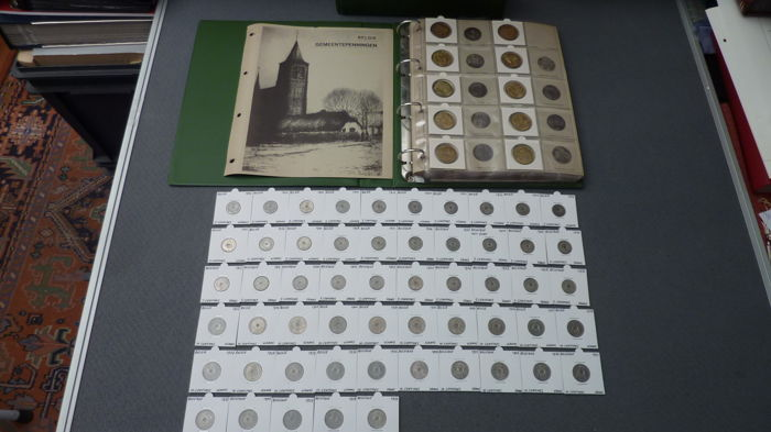Belgium - Collection 1902/1982 coins and medals (171 pieces) in album and separate
