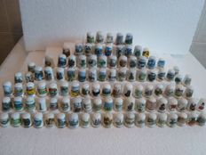 Collection of 102 different thimbles - Collection of 102 thimbles