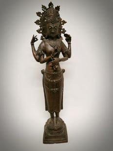 Large, bronze Shiva - Indonesia - 2nd half 20th century (64 cm)