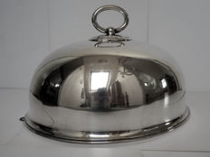 A very large silver plated cloche / food cover by Atkin Bros. / Benetfink, England, ca. 1890