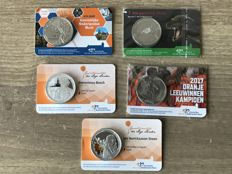 The Netherlands - 5 medals in coin card 2015/2017