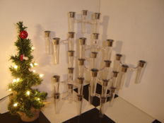 Lot of 10 perspex stackable design Christmas candle holders.