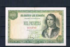 Spain - 1,000 pesetas 1949 - Pick 138a - Without series