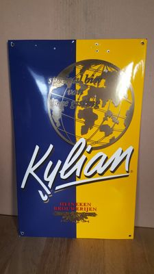 Kylian enamel sign, slightly convex, in good condition - 1990s