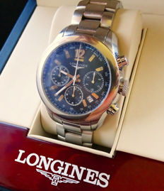 Longines Grande Vitesse Automatic Steel Luxury Men's Chronograph