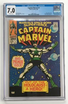 Marvel Comics - Captain Marvel #1 - CGC Graded 7.0 - 1x sc - (1968)