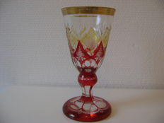 Engraved Biedermeier goblet - Bohemian - early 19th century