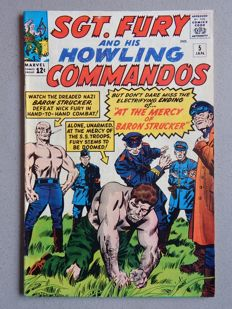 Marvel Comics - SGT. Fury and his Howling Commandos #5 - 1st Appearance of Baron Strucker - 1x sc - (1964)