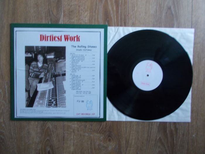 "Lp The Rolling Stones "" Dirtiest Work "" Studio Outtakes , Extra Limited Edition 55 Copies , Unofficial Release"