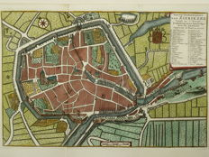 Zierikzee; Isaak Tirion - new ground drawing of Zierikzee-1739