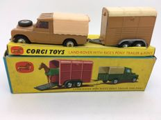 Corgi Toys - Scale 1/43 - Land-Rover with Rice's Pony Trailer & Pony Gift Set 2