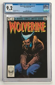 Marvel Comics - Wolverine #3 from Frank Miller's Famous Limited Series - CGC Graded 9.2!!! - 1x sc - (1982)