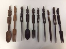Colonial Handcrafted Wooden Tableware
