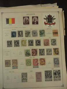 Belgium and areas - Collection in a Davo album and on loose pages.