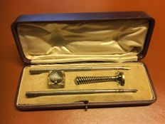 beautiful antique Sterling silver writing set