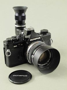Olympus OM2, BLACK VERSION with angle viewfinder and F.Zuiko 1.8/50 mm.