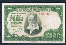 Spain - 1,000 pesetas from 1951 - Pick 143