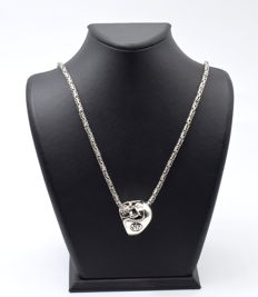 925 Italian sterling silver Chain with Ring - 60 cm