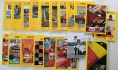 Ferrari Club Belgio magazines from N°1 to N°19 (N°11 missing) from 1988 to 2007 - 23x32 cm - in addition a book on 50 years of garage Francorchamps