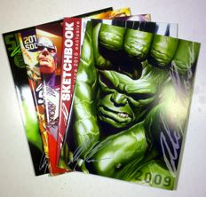 Alex Ross - 5x original signed Sketchbooks - (2009-2013)
