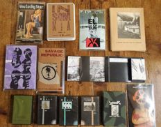 Unique lot of 13 Industrial-Independant-Electronic-limited-Experimental-rock-world Cassette Tapes (Von Magnet-Savage Republic-Womad ao)