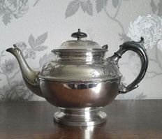 Beautifully decorated silver plated teapot, bu Francis Howard