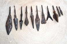 Medieval iron arrowheads -31-83 mm (11)