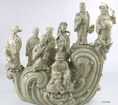 Ba Xian, or Eight Immortals, porcelain - China - late 20th century