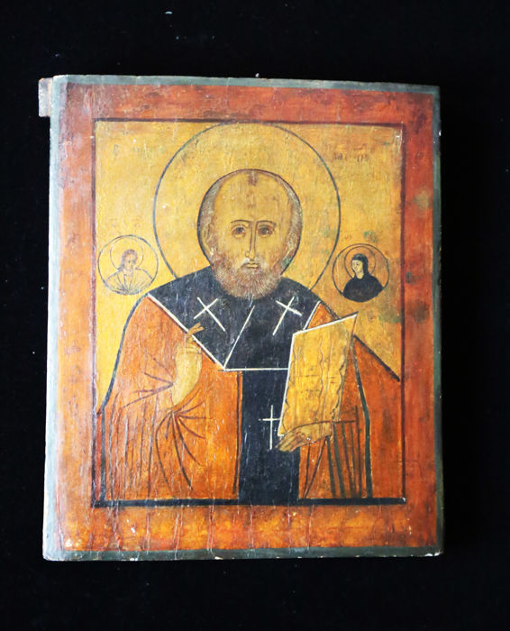 Icon of Saint Nicholas - Late 19th/early 20th century