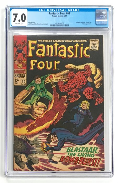 Marvel Comics - The Fantastic Four #63 - CGC Graded 7.0 - 1x sc - (1967)