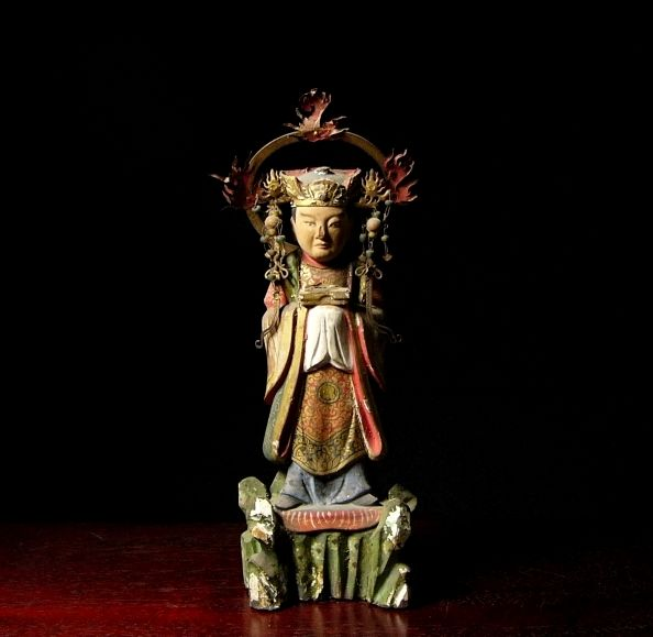 Statue of celestial deity - Japan - 19th century