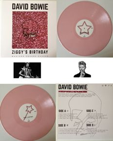 """David Bowie Very Collectable 2 LP Set """"Ziggy's Birthday At Madison Square Garden""""  Soundboard Recording On Coloured Vinyl !"""