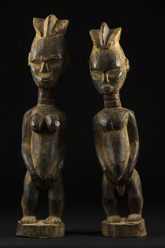 Couple of Adjamou figurines - DAN - Liberia