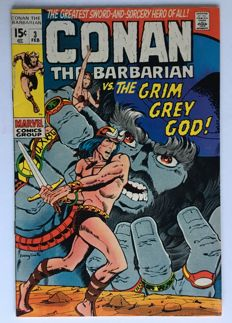 Marvel Comics - Conan the Barbarian #3 - 1x sc - (1970)