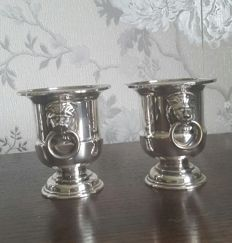 Pair of silver plated cocktail cups by Viners Sheffield