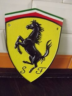 Heavy Iron Vintage Ferrari Sign.