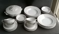 Hutschenreuther, Racine (All White) dinnerware consisting of 34 parts